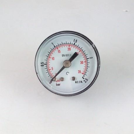 Dry pressure gauge 2,5 Bar diameter dn 40mm back