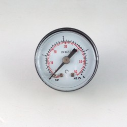 Dry pressure gauge 4 Bar diameter dn 40mm back