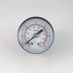 Dry pressure gauge 6 Bar diameter dn 40mm back