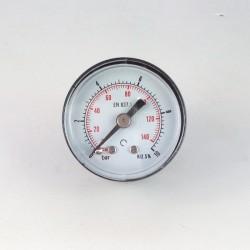 Manometro 10 Bar diametro dn 40mm posteriore
