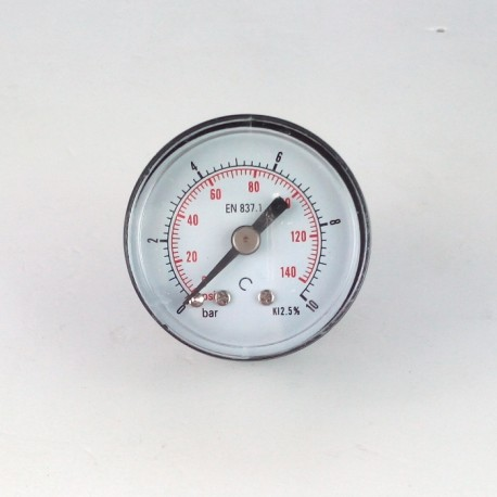 Dry pressure gauge 10 Bar diameter dn 40mm back