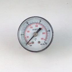 Dry pressure gauge 25 Bar diameter dn 40mm back