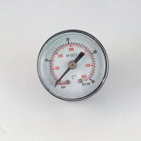 Dry pressure gauge 40 Bar diameter dn 40mm back
