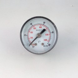 Manometro 100 Bar diametro dn 40mm posteriore