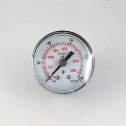 Dry pressure gauge 250 Bar diameter dn 40mm back