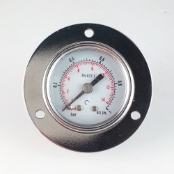 Manometro 1 Bar diametro dn 40mm con flangia