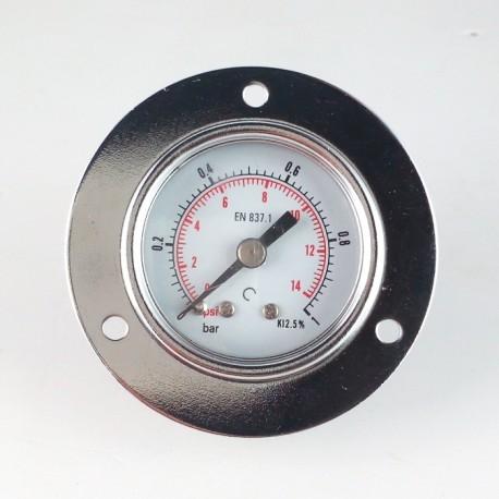 Dry pressure gauge 1 Bar diameter dn 40mm front flange