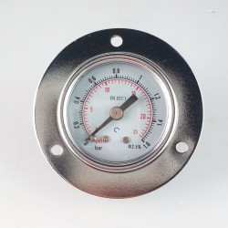 Dry pressure gauge 1,6 Bar diameter dn 40mm front flange