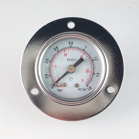 Dry pressure gauge 1,6 Bar diameter dn 40mm front flange