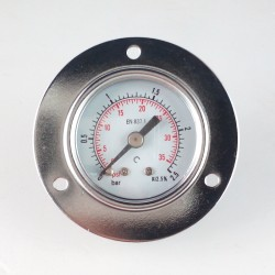 Manometro 2,5 Bar diametro dn 40mm con flangia