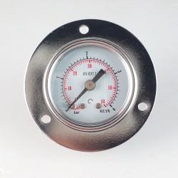 Manometro 4 Bar diametro dn 40mm con flangia