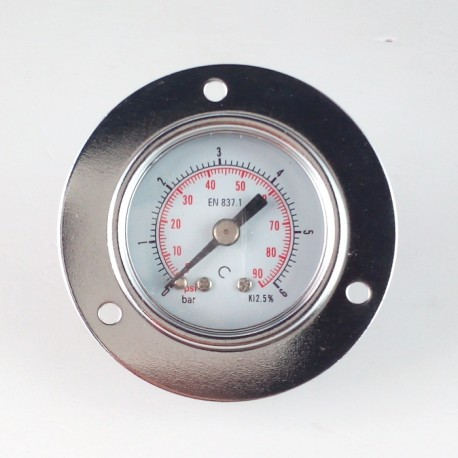 Dry pressure gauge 6 Bar diameter dn 40mm front flange