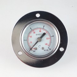 Dry pressure gauge 10 Bar diameter dn 40mm front flange