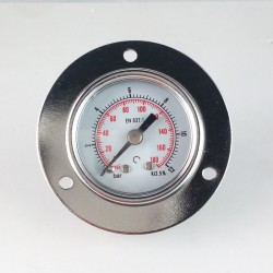 Dry pressure gauge 12 Bar diameter dn 40mm front flange