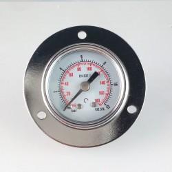 Manometro 12 Bar diametro dn 40mm con flangia