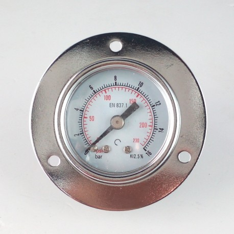 Dry pressure gauge 16 Bar diameter dn 40mm front flange