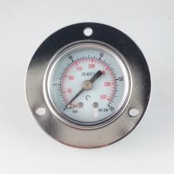 Manometro 25 Bar diametro dn 40mm con flangia