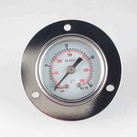 Dry pressure gauge 40 Bar diameter dn 40mm front flange
