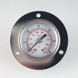 Manometro 60 Bar diametro dn 40mm con flangia