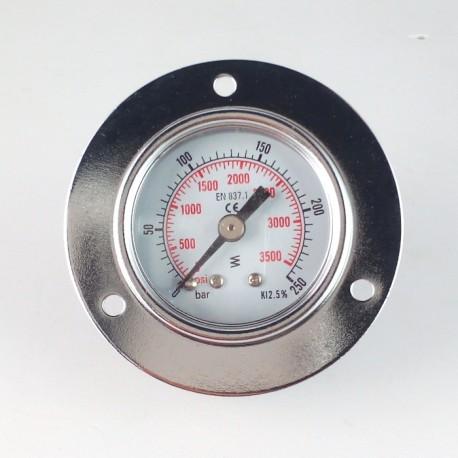 Dry pressure gauge 250 Bar diameter dn 40mm front flange