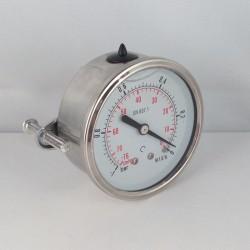 -1 Bar glycerine filled vacuum gauge u-clamp diameter dn 63mm