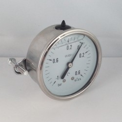Manovuotometro glicerina -1+0,6 Bar staffa diametro dn 63mm