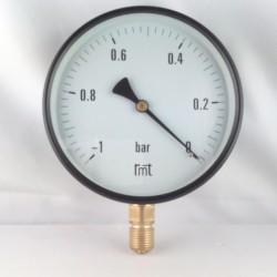 "Dry vacuum gauge -1 Bar diameter dn 150mm 1/2""Bsp bottom"
