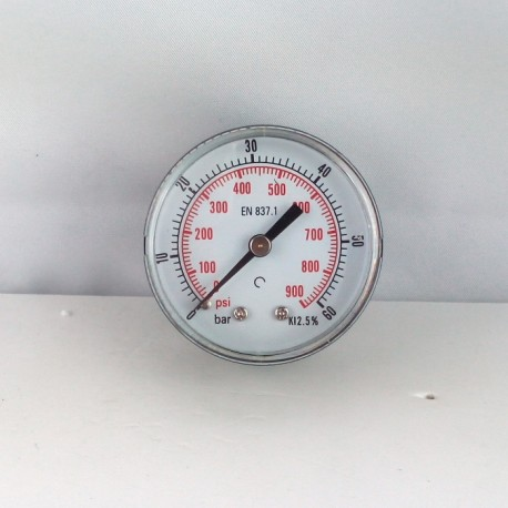 "Dry pressure gauge 60 Bar diameter dn 50mm back 1/4""Bsp"