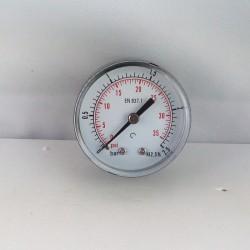 "Dry pressure gauge 2,5 Bar diameter dn 50mm back 1/4""Bsp"