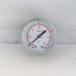"Dry pressure gauge 4 Bar diameter dn 50mm back 1/4""Bsp"