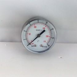 "Dry pressure gauge 16 Bar diameter dn 50mm back 1/4""Bsp"