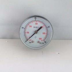 "Dry pressure gauge 40 Bar diameter dn 50mm back 1/4""Bsp"