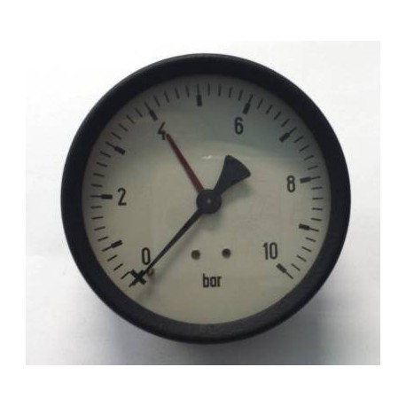 Dry pressure gauge 10 Bar diameter dn 80mm back connection