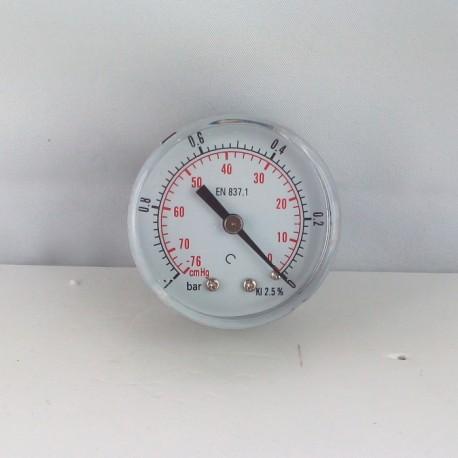 "Dry vacuum gauge -1 Bar diameter dn 50mm back 1/4""Bsp"