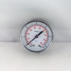 "Dry pressure gauge 6 Bar diameter dn 50mm back 1/8""Bsp"