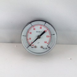 "Dry pressure gauge 10 Bar diameter dn 50mm back 1/8""Bsp"