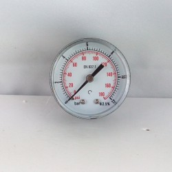 "Dry pressure gauge 12 Bar diameter dn 50mm back 1/8""Bsp"