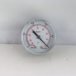 "Dry vacuum gauge -1 Bar diameter dn 50mm back 1/8""Bsp"