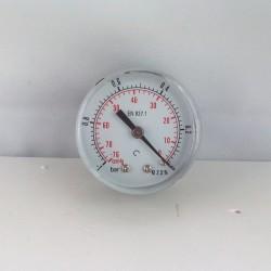 """Vuotometro -1 Bar diametro dn 50mm posteriore 1/8""""Gas"""