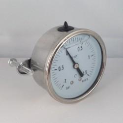 -1+1,5 Bar glycerine filled compound gauge u-clamp diameter dn 63mm