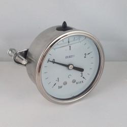 -1+3 Bar glycerine filled compound gauge u-clamp diameter dn 63mm