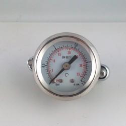 Dry pressure gauge 2,5 Bar diameter dn 40mm u-clamp