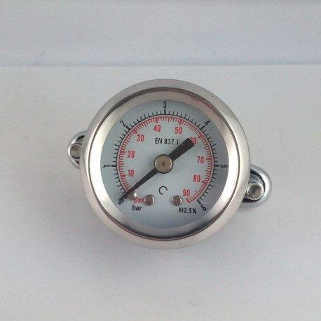 Dry pressure gauge 6 Bar diameter dn 40mm u-clamp