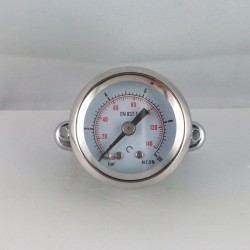 Dry pressure gauge 10 Bar diameter dn 40mm u-clamp