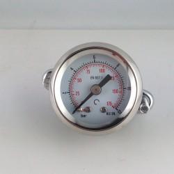 Manometro 12 Bar diametro dn 40mm con staffa