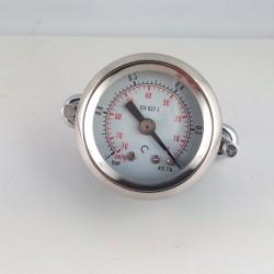 Dry vacuum gauge -1 Bar diameter dn 40mm u-clamp
