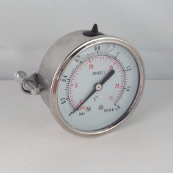 1,6 Bar glycerine filled pressure gauge u-clamp diameter dn 63mm