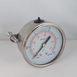 2,5 Bar glycerine filled pressure gauge u-clamp diameter dn 63mm