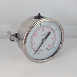 4 Bar glycerine filled pressure gauge u-clamp diameter dn 63mm