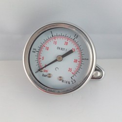 Dry pressure gauge 2,5 Bar diameter dn 50mm u-clamp
